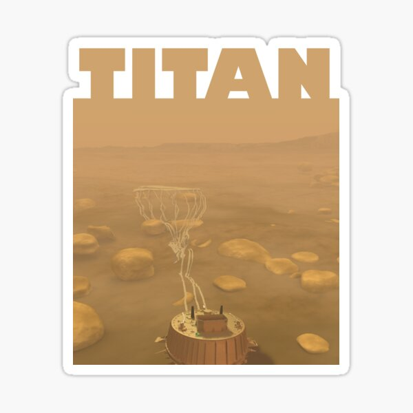 The Huygens Probe on Titan Sticker