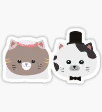 Cat Wedding Couple Rn557 Sticker