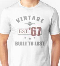 Vintage 1967 Birth Year Unisex T-Shirt