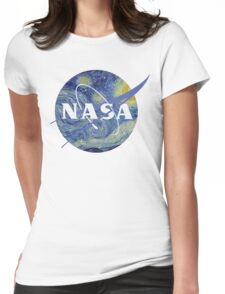 NASA - Starry Night Womens Fitted T-Shirt