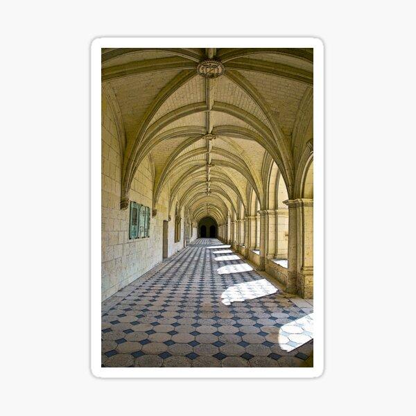 Fontevraud Abbey Colonnade Sticker