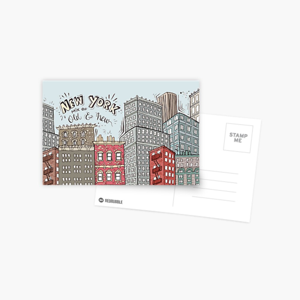 New York City Illustration Postcard