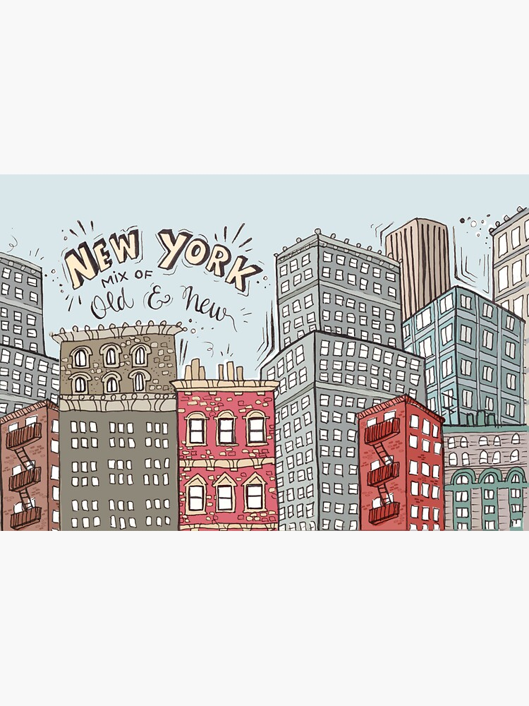 New York City Illustration by mirunasfia
