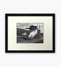 Snowplow caboose Framed Print
