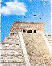 Mayan Magic - The Iconic Pyramid At Chichen Itza by Mark Tisdale