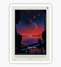 Space Travel Poster - Exoplanet Trappist 1e Sticker
