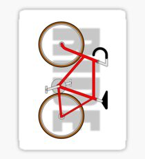 The Bicycle. Ride.  (version 2)  Sticker