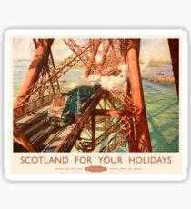 The Forth Rail Bridge Advertising Vintage Sticker