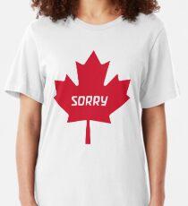 Entschuldigung Kanada Slim Fit T-Shirt