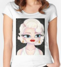Marilyn: Hollywood Starlets Series Women's Fitted Scoop T-Shirt