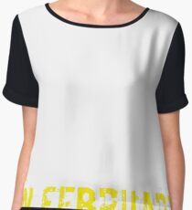 Legends Are Born In February Sentence Quote Text Women's Chiffon Top