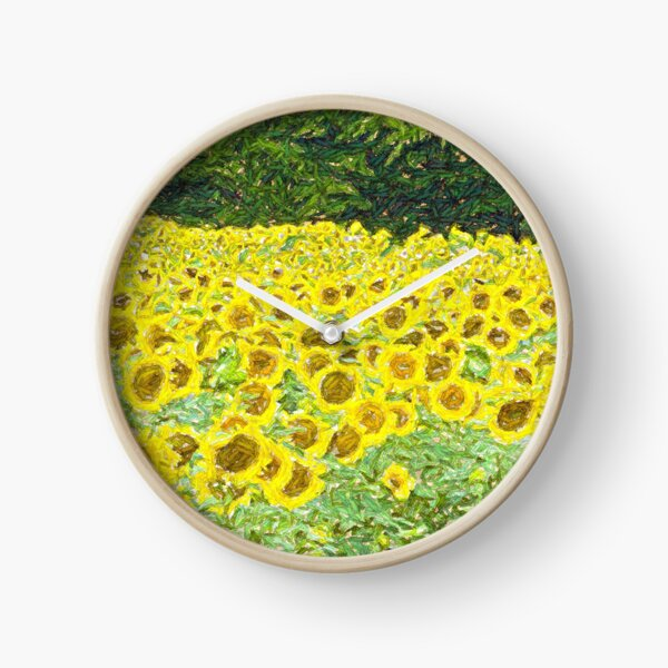 A Field of Sun  Clock