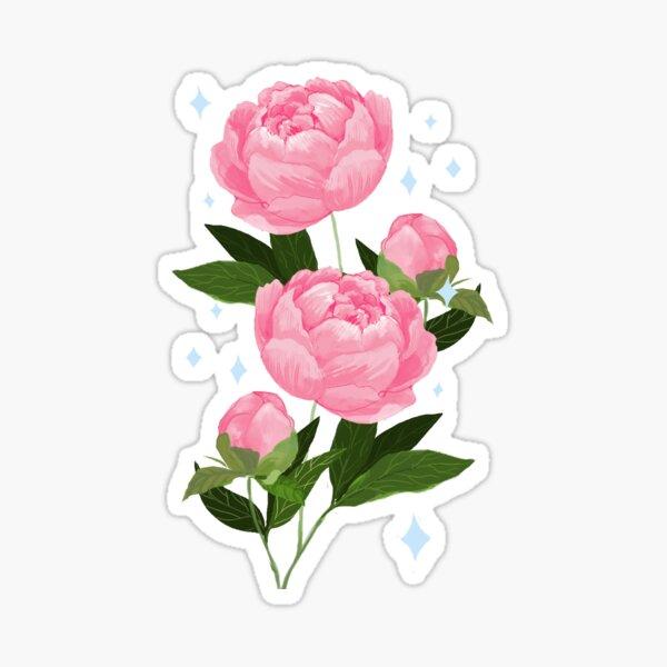 Pretty Peonies Sticker