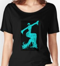 Blue Fire Girl Women's Relaxed Fit T-Shirt