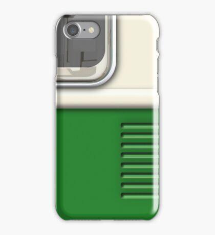 Cream Green Camper Van iPhone Case/Skin
