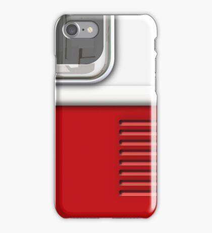 White Red Camper Van iPhone Case/Skin