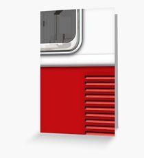 White Red Camper Van Greeting Card