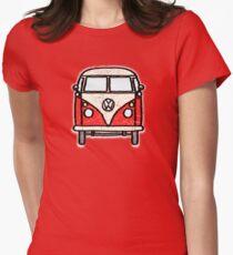 Red White Campervan Worn Well T-Shirt