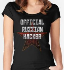 Official Russian Hacker Women's Fitted Scoop T-Shirt