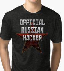 Official Russian Hacker Tri-blend T-Shirt