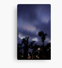 Trees and clouds and time Canvas Print
