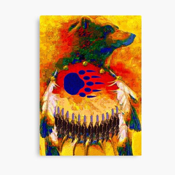 Bear Warrior Native American Art Canvas Print