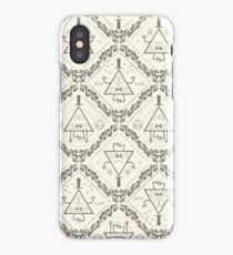 BILL CIPHER Gravity Falls wallpaper pattern white iPhone Case/Skin