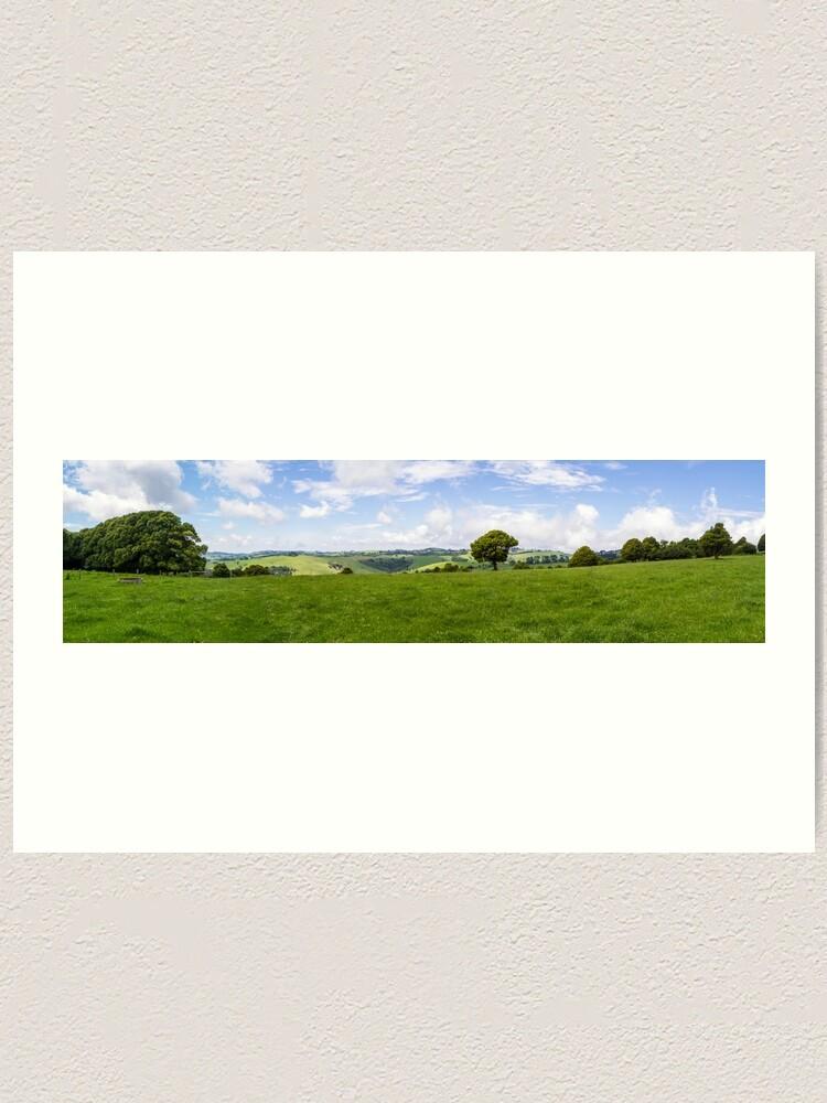 Alternate view of Green Fields Art Print