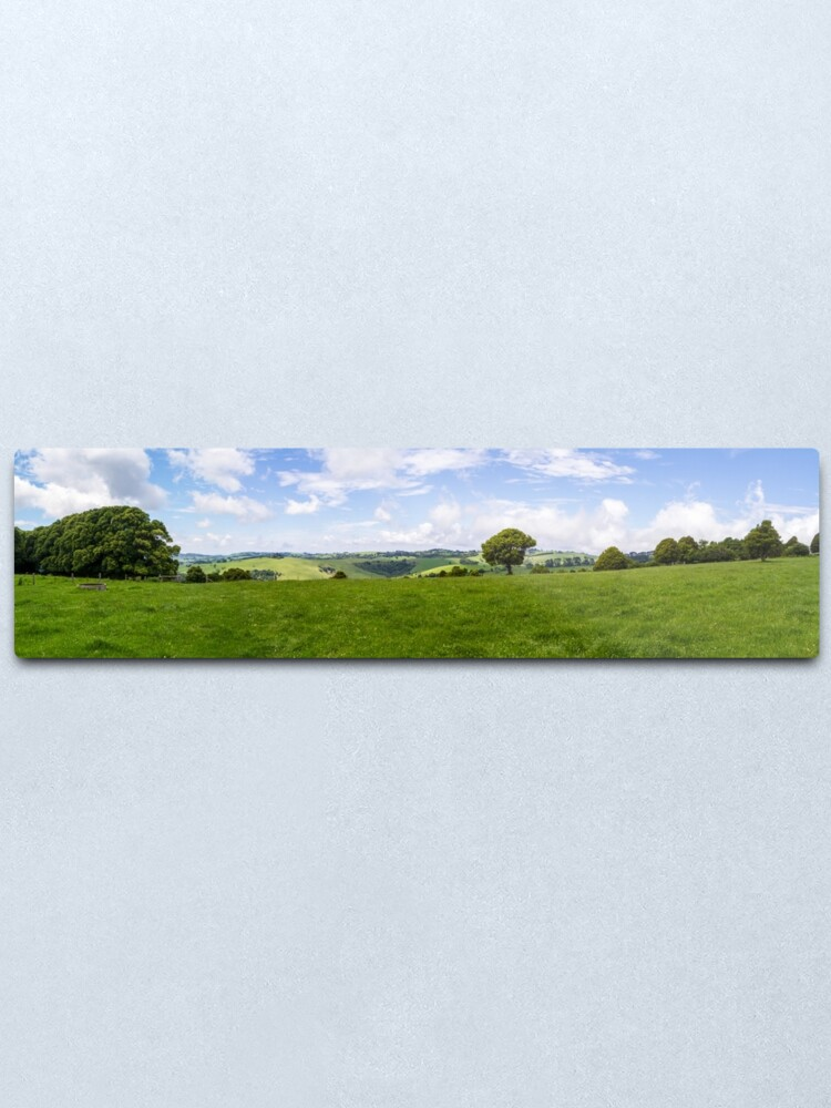 Alternate view of Green Fields Metal Print