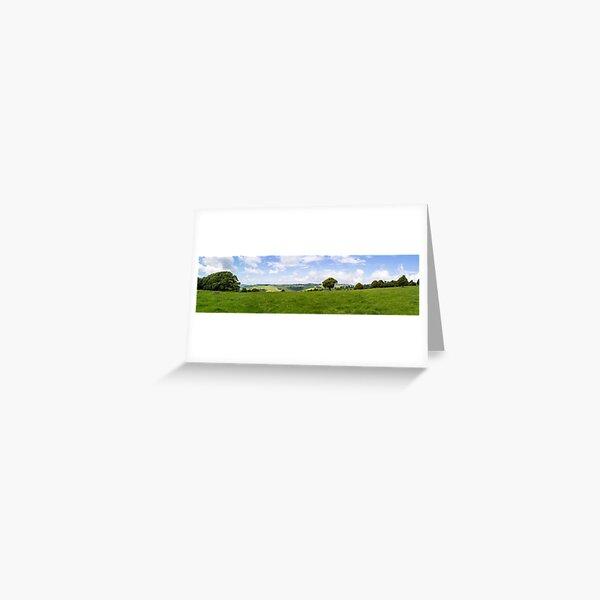 Green Fields Greeting Card
