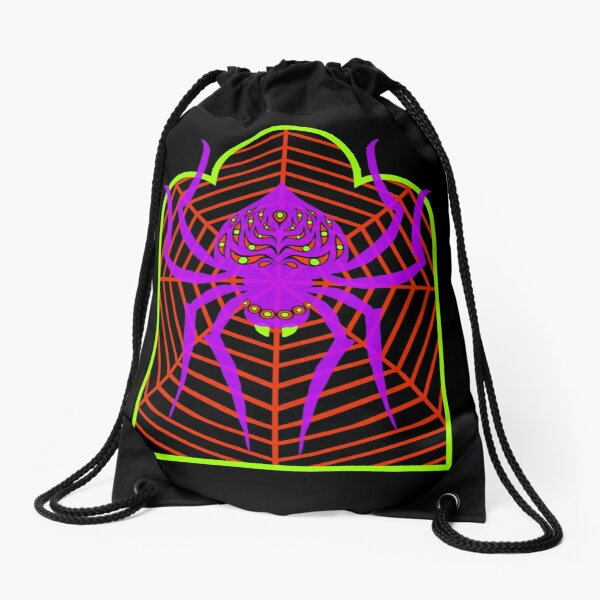 spider Drawstring Bag