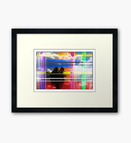 Heaven Is Gift Wrapped - Abstract Framed Print