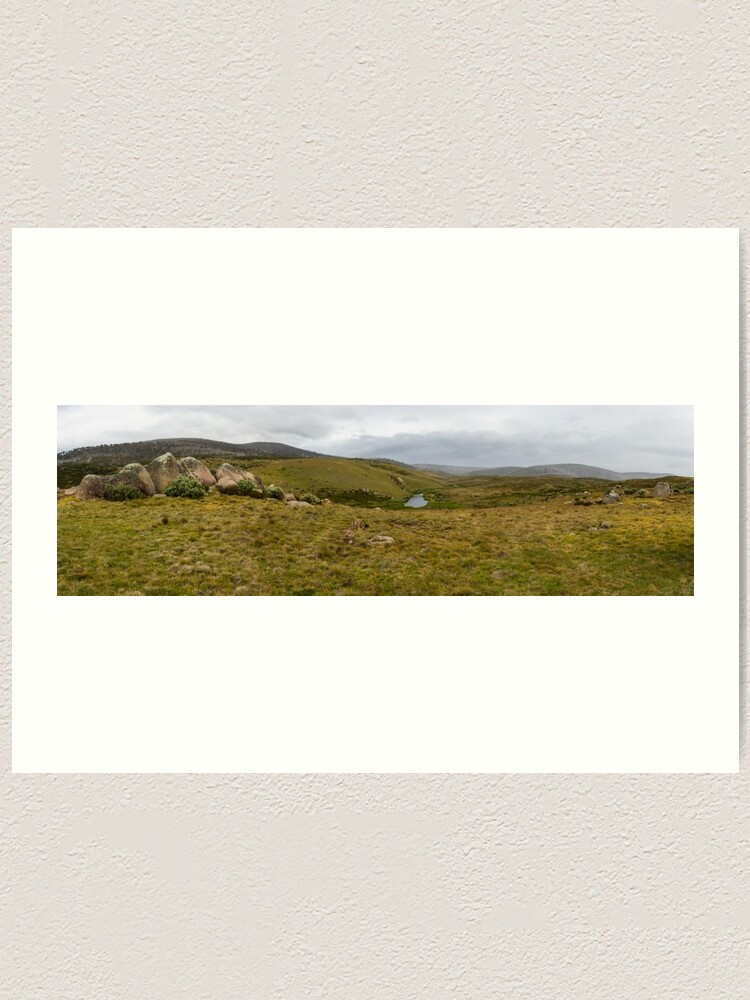 Alternate view of Snowy Mountains High Country Art Print