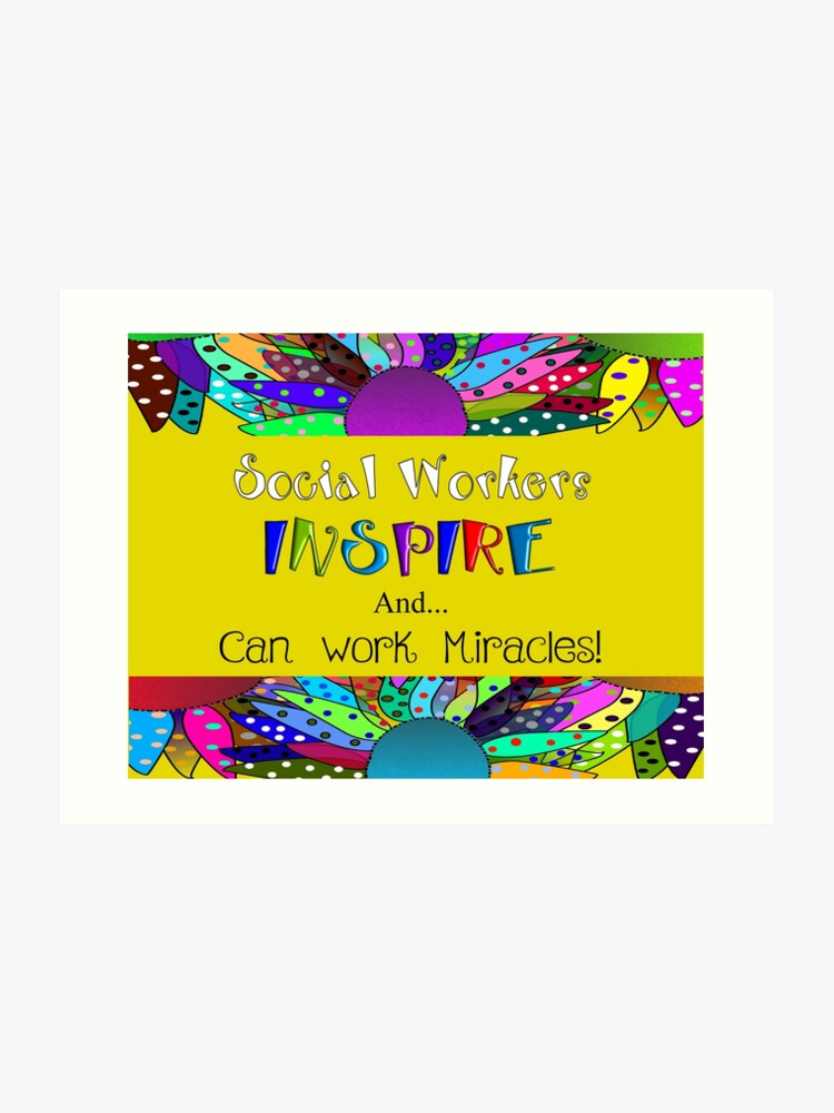 Social Worker Quotes | Art Print