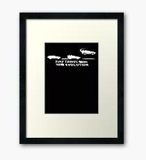 Time Travel Evolution Framed Print