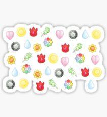 Pokemon Badges Kanto Sticker