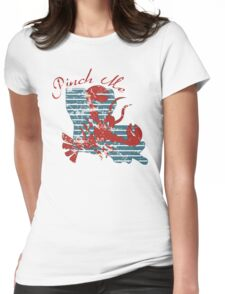 Crawfish Louisiana  Pinch Me Womens Fitted T-Shirt