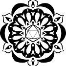 d20 Mandala by Christina Bledsoe