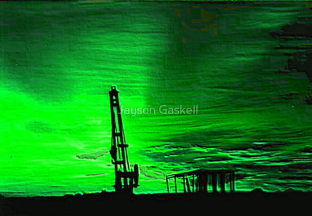 Green sunset over Laverton by Jayson Gaskell