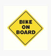 Fahrrad an Bord Kunstdruck