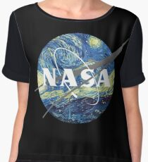 Nasa Logo Van Gogh  Chiffon Top