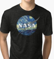 Nasa Logo Van Gogh Vintage T-Shirt