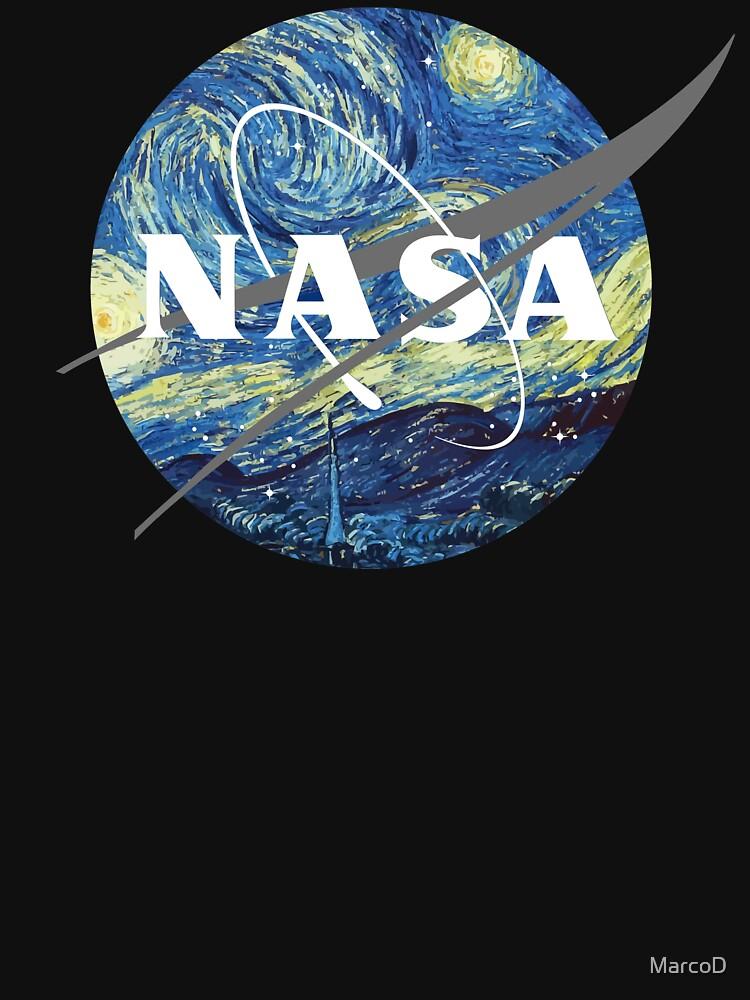 Nasa Logo Van Gogh  by MarcoD