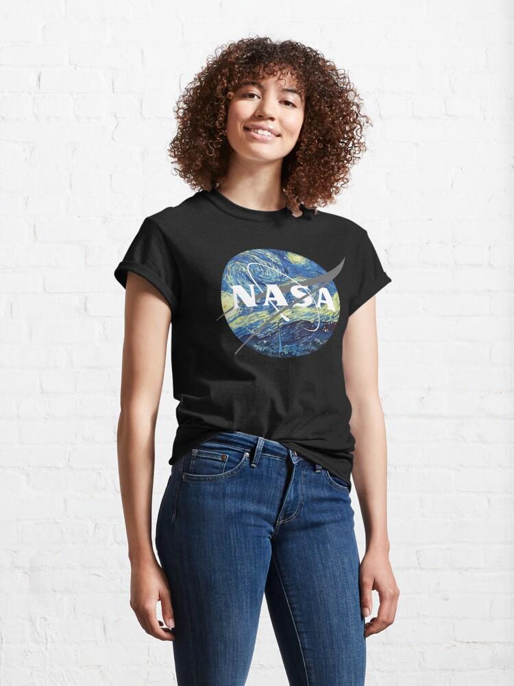 Alternate view of Nasa Logo Van Gogh  Classic T-Shirt