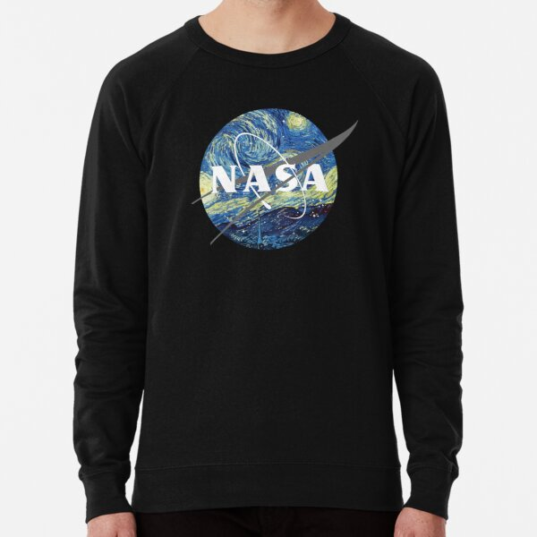 Nasa Logo Van Gogh  Lightweight Sweatshirt