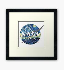 Nasa Logo Van Gogh  Framed Print