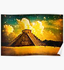 The Enduring Mystery Of The Maya - Chichen Itza Poster