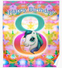 Happy Birthday Unicorn Poster