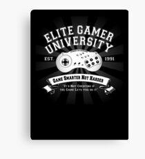 Elite Gamer University Canvas Print