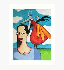 The Hairdresser Bird Art Print